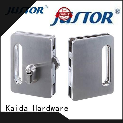 Kaida glass hardware real glass door locks hardware factory direct supply for bathroom