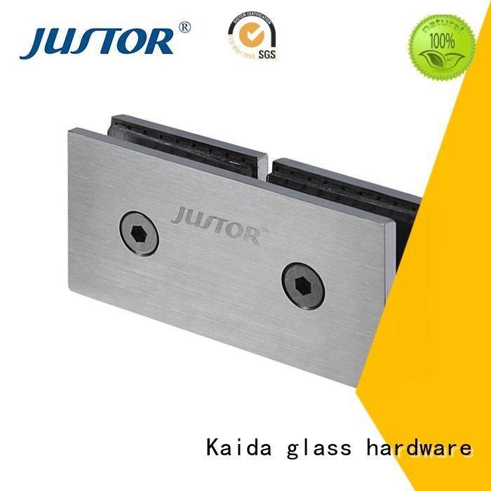 Kaida glass hardware glass to glass hinges toughened glass Shower room 12mm
