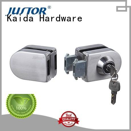Kaida glass hardware half round frameless glass door lock factory direct supply for offices