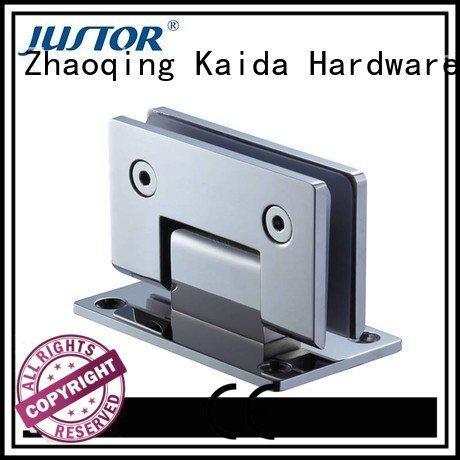 Stainless steel Shower room shower door glass to glass hinges Kaida glass hardware
