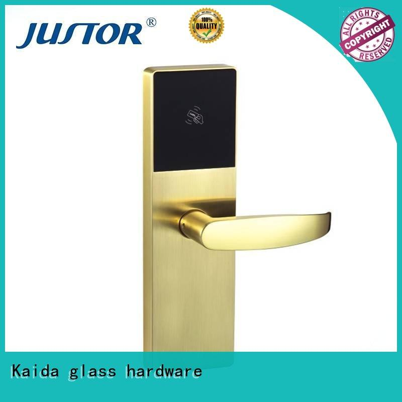 Kaida glass hardware intelligent smart lock wholesale for home