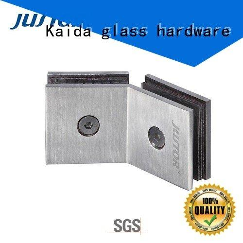 toughened glass 12mm bathroom Kaida glass hardware glass to glass hinges