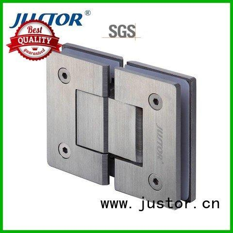 toughened glass 180 degree Stainless steel glass door hinges Kaida glass hardware