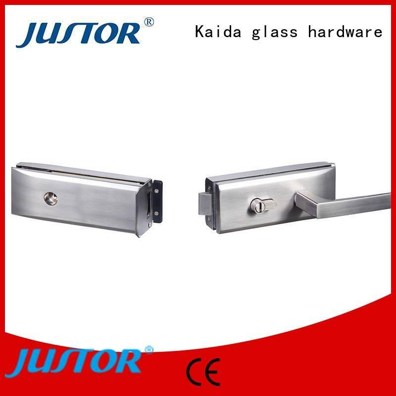 Hot sliding glass door handle with lock government elegance Office Kaida glass hardware Brand