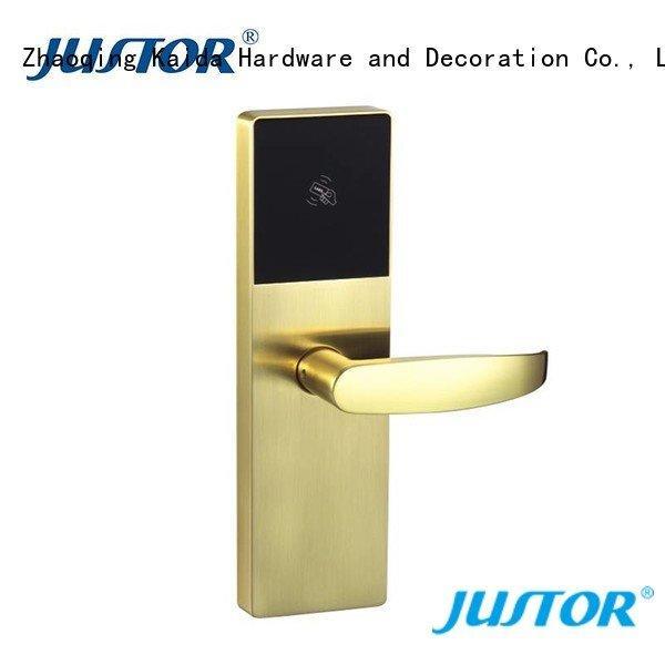 electronic hotel locks smart ez1002 OEM digital door lock Kaida glass hardware