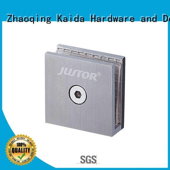 Kaida glass hardware glass to glass hinges 12mm clip Stainless steel Shower room