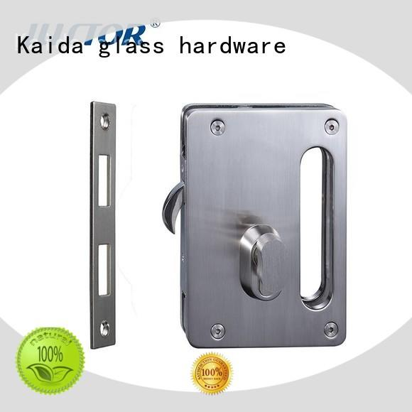 Kaida glass hardware real types of sliding glass door locks with lever handles for bathroom