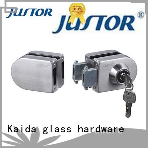 Kaida glass hardware with lever handles sliding glass door lock manufacturer for hotel