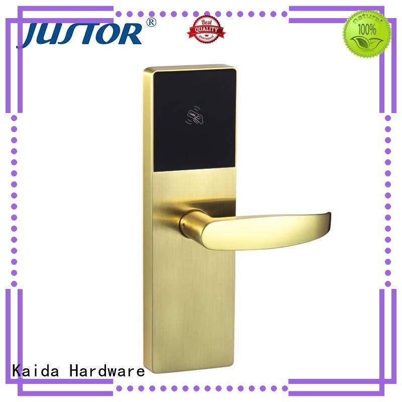 Kaida glass hardware professional hotel lock companies smart for security doors