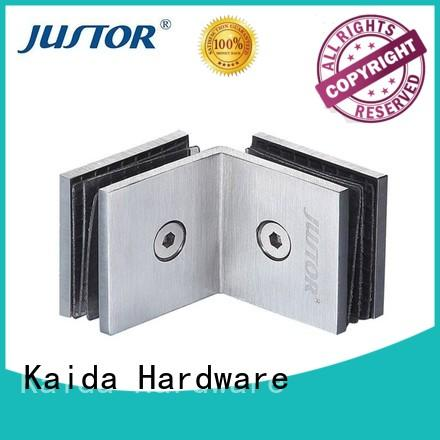 Kaida glass hardware hydraulic glass door hinges factory direct supply for hotels