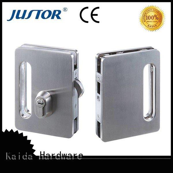 sliding glass door handle with lock door glass door lock brass cylinder Kaida glass hardware