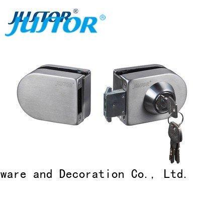 Quality sliding glass door handle with lock Kaida glass hardware Brand juw516 glass door lock