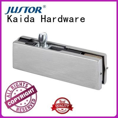 Kaida glass hardware high quality frameless glass patch fittings square for conference room