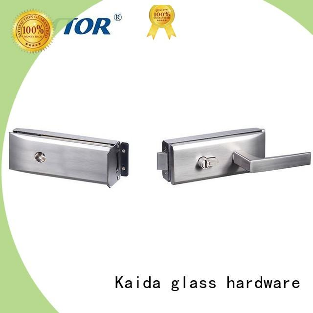 Kaida glass hardware excellent glass door lock series for offices