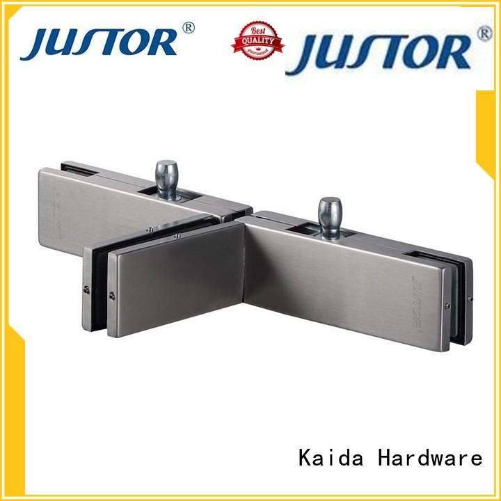 Kaida glass hardware good price glass door patch hardware aluminum alloy body for meeting room