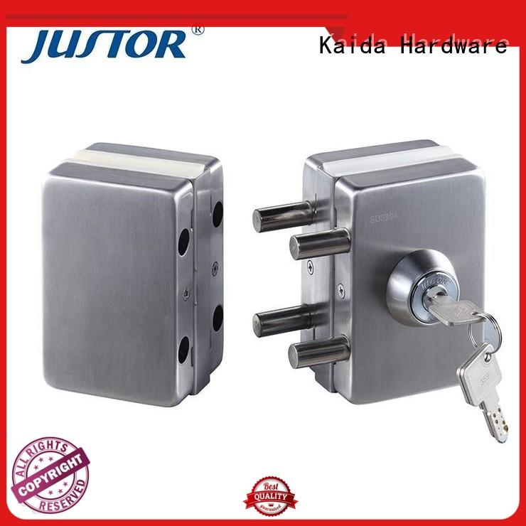 quality frameless glass door lock aluminum manufacturer for security doors