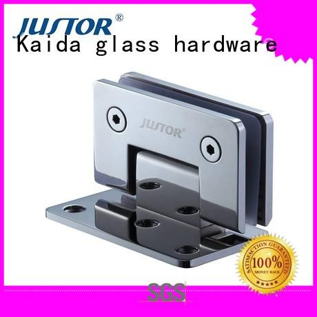 Kaida glass hardware Brand clip glass to glass hinges 180 degree supplier