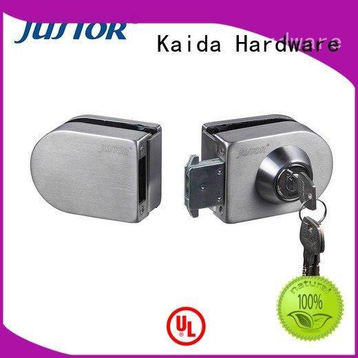 Kaida glass hardware elegance government building Double side door sliding glass door handle with lock top grade