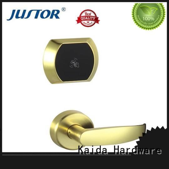 Zinc alloy hotel electronic door locks wholesale for home Kaida glass hardware