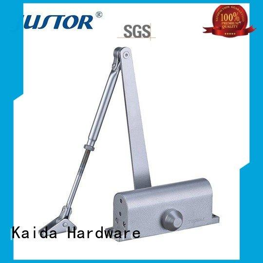 Kaida glass hardware Brand 12mm iron refined aluminum alloy door closer hardware