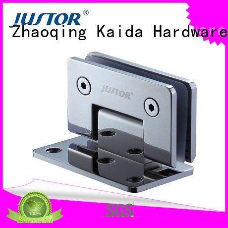toughened glass bathroom 12mm Stainless steel Kaida glass hardware glass door hinges