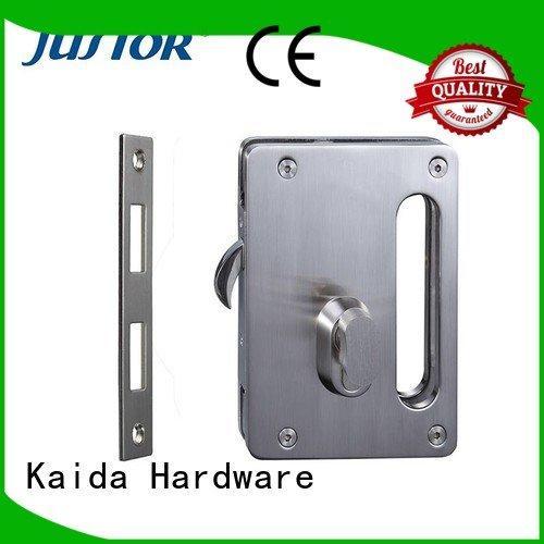 Custom glass door lock double side glass door top grade brass cylinder Kaida glass hardware