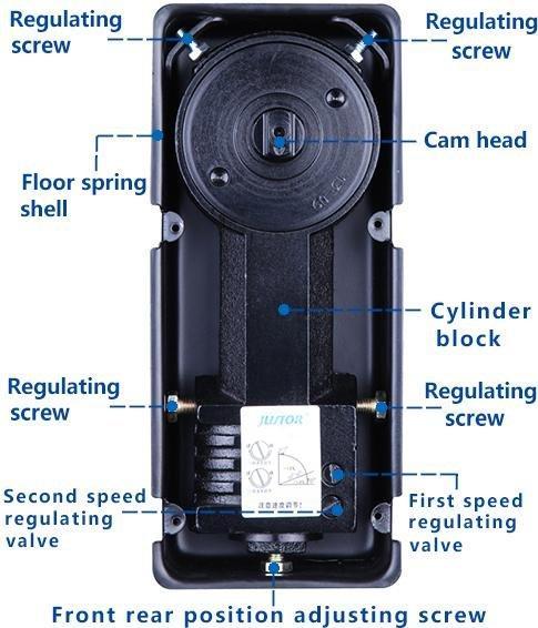 glass door floor spring price wooden door floor spring Heavy Duty Kaida glass hardware